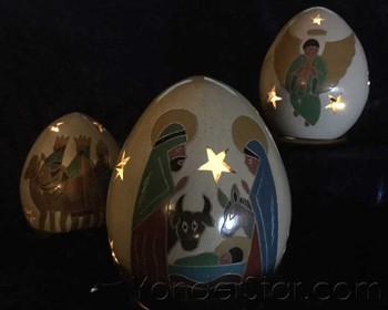lighted nativity luminaries