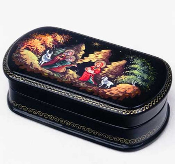 lacquered box nativity scene from Russia