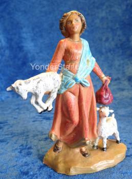 "Melia - 5"" Fontanini Nativity Goat Herder 54117"
