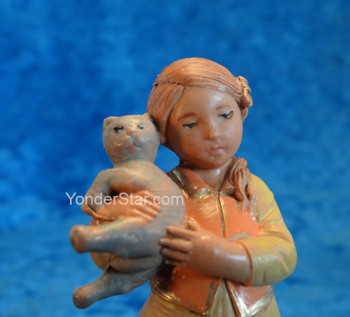 "Filia - 5"" Fontanini Nativity Girl with Cats 59811"