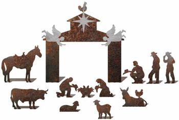 Western Nativity Scene Made in Texas