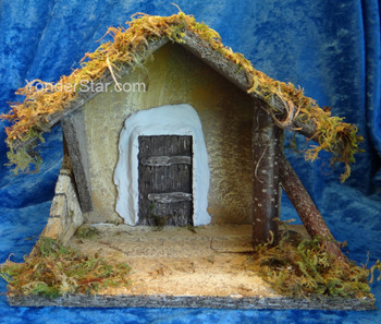 """7.5"""" Fontanini Wooden A-Frame Stable for 3.5"""" Nativity Figures 55093"""