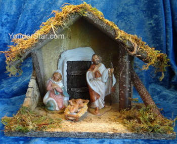 """Fontanini Nativity Scene with 7"""" Wooden Stable 55092"""