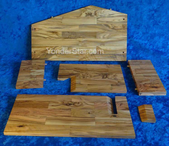 Wooden stable assembly