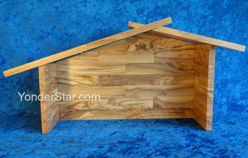 Wooden stable for nativity set