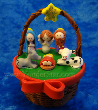 Mazapan basket nativity