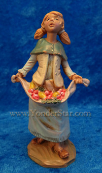 "Keturah - 5"" Fontanini Nativity Villager with Fruit 72695"