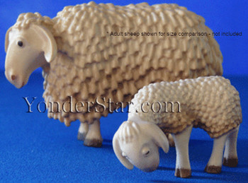 Lamb with Head Lowered LEPI Kastlunger Wooden Nativity