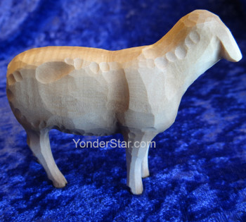 Sheep - Huggler Swiss Nativity White Sheep Looking Left