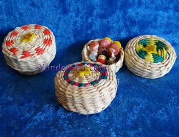 Woven basket nativity