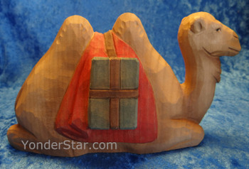 Camel Seated with Packs - Huggler Nativity Woodcarving
