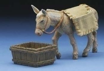 """Donkey - Mary's Donkey - 5"""" Fontanini Nativity Animals 54020"""