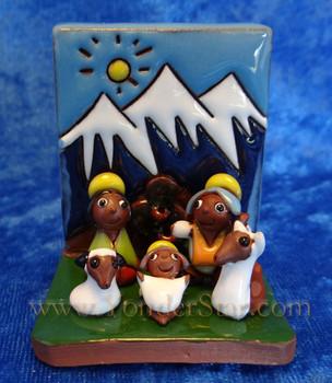 Bolivian pottery nativity - Fair Trade