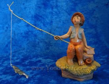 """Jada - 5"""" Fontanini Nativity Boy Fishing 59800"""