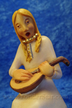 Kastlunger Young Woman w Lyre for LEPI Kastlunger Wooden Nativity