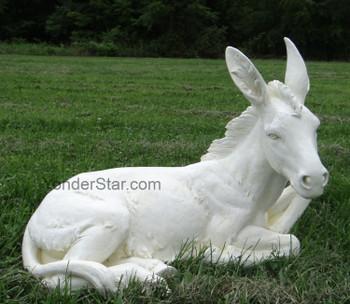 large outdoor nativity donkey