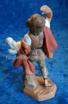 "Micah - 5"" Fontanini Nativity Shepherd w Sheep 72558"
