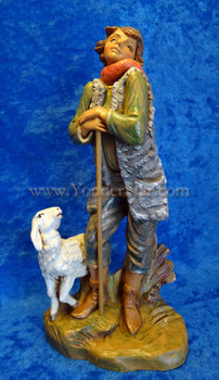 Fontanini nativity shepherd Peter