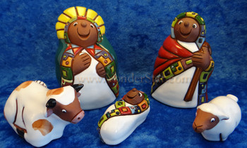 Aymara pottery nativity - Fair Trade