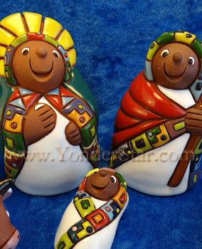 Fair Trade nativity, pottery, Bolivia