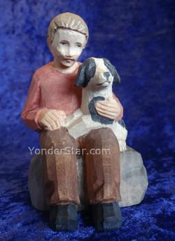 Swiss carved boy