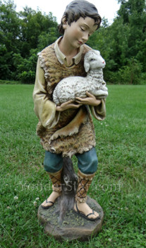 """Shepherd w Sheep for 39"""" Scale Large Outdoor Nativity Scene - 33512"""