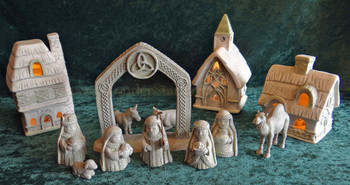 Celtic village nativity