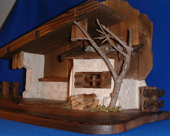Wooden Stable for LEPI Reindl Nativity