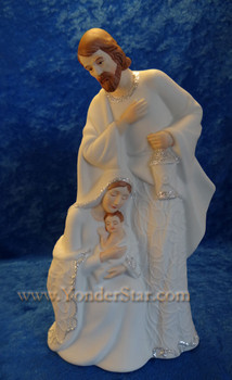 LED Lighted Porcelain Nativity Scene
