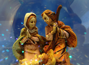 Musical Fontanini Nativity Glitterdome Silent Night 66167