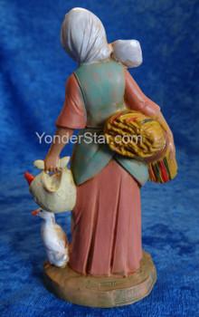"""Hannah - 5"""" Fontanini Nativity Villager w Grain 52567"""