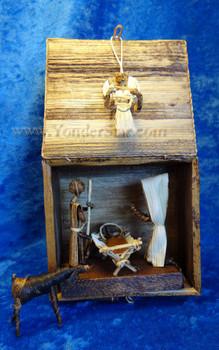 Banana Fiber Nativity Scene in Fiber Box