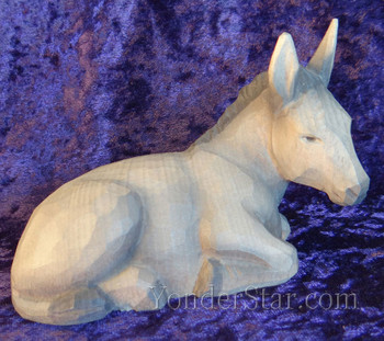 huggler nativity seated donkey