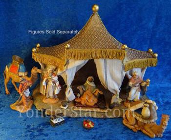"""12.5"""" Wisemen's Tent for 5"""" Fontanini Nativity Scene 55590"""