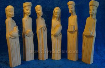 Jacaranda Wood Nativity from Zimbabwe
