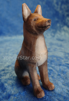 Shepherd Dog Seated - Huggler Wooden Nativity Switzerland