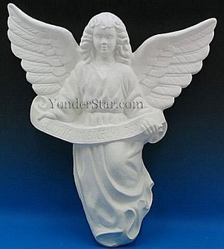 Hanging Angel for White Outdoor Nativity