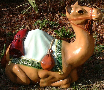 "36"" Scale Color Outdoor Nativity Set Seated Camel"