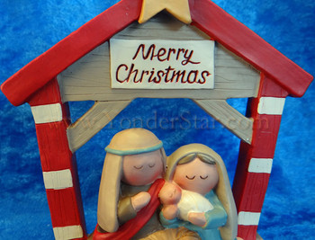 Merry and Bright Nativity Scene