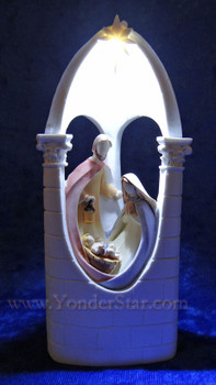 Holy Family Lighted Manger Scene