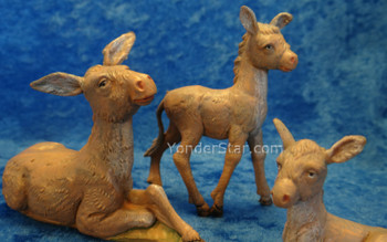 "Donkey Family - 5"" Fontanini Nativity Animals 51533"