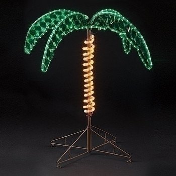 Outdoor Lighted Palm Tree - 2.5 feet tall