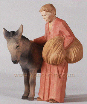 Swiss man with donkey