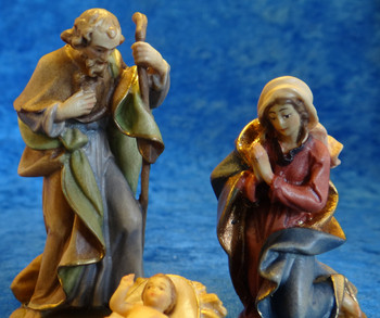 Reindl Holy Family LEPI Wooden Handcarved Nativity