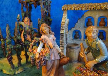 "Vineyard Wine Scene 5"" Fontanini Nativity Market"
