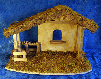 Wood nativity stable Fontanini