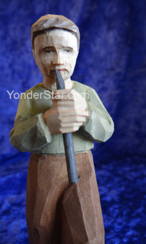Boy with Recorder - Huggler Nativity Woodcarving