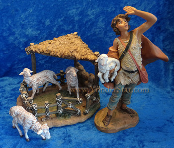 Fontanini nativity sheep scene