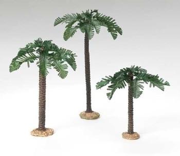 "Palm Trees - 5"" Fontanini Nativity Landscaping Set of Three 56572"