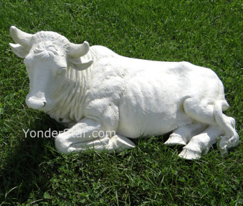 "Outdoor Nativity Ox Ivory Statue for 39"" Scale Nativity - 35015"